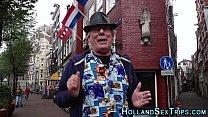 Голландская проститутка трахается с молодым за бабло